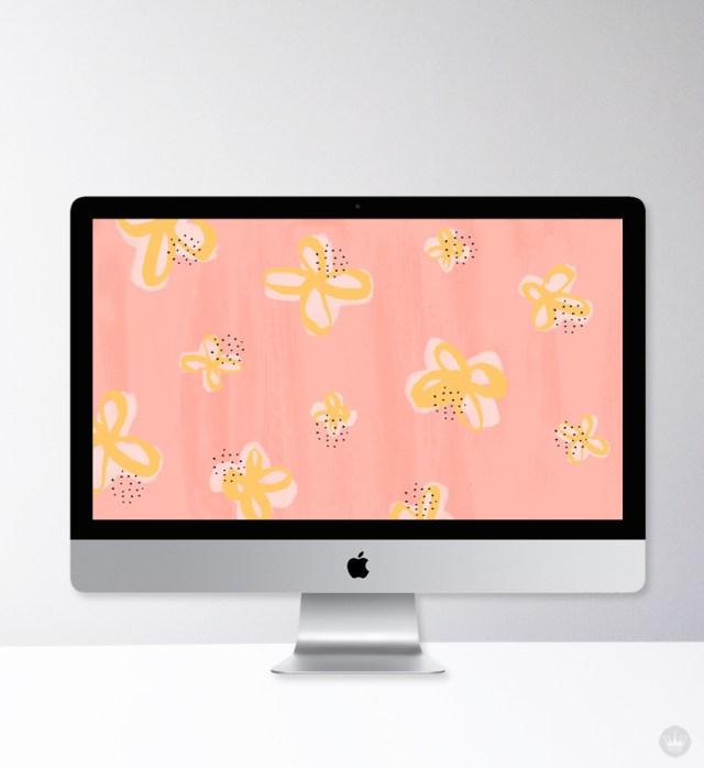 Floral desktop wallpaper designed by one of our Hallmark summer interns, Ellie Wright.