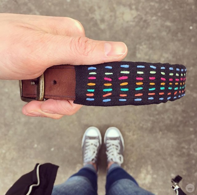 Embroidered Dog Collars with custom rainbow stitching