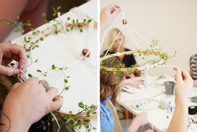 Embroidery Hoop Baby Mobile | thinkmakeshareblog.com