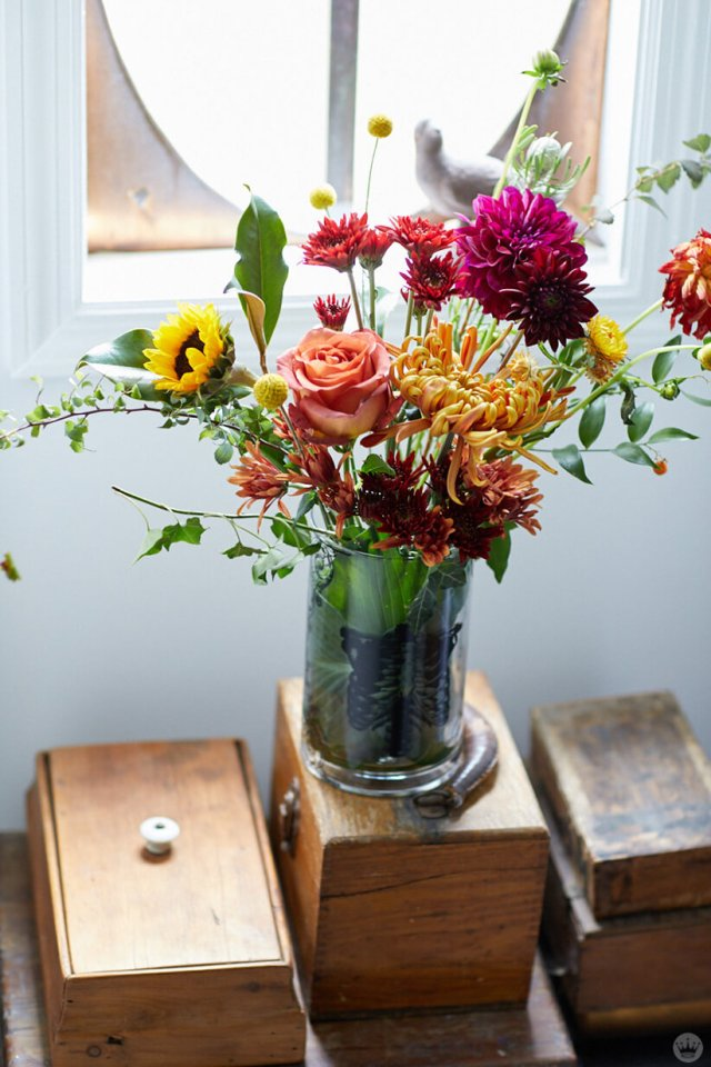 Arrangement of fall flowers