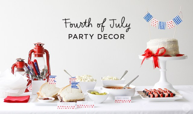 Fourth of July Party Decor   thinkmakeshareblog.com