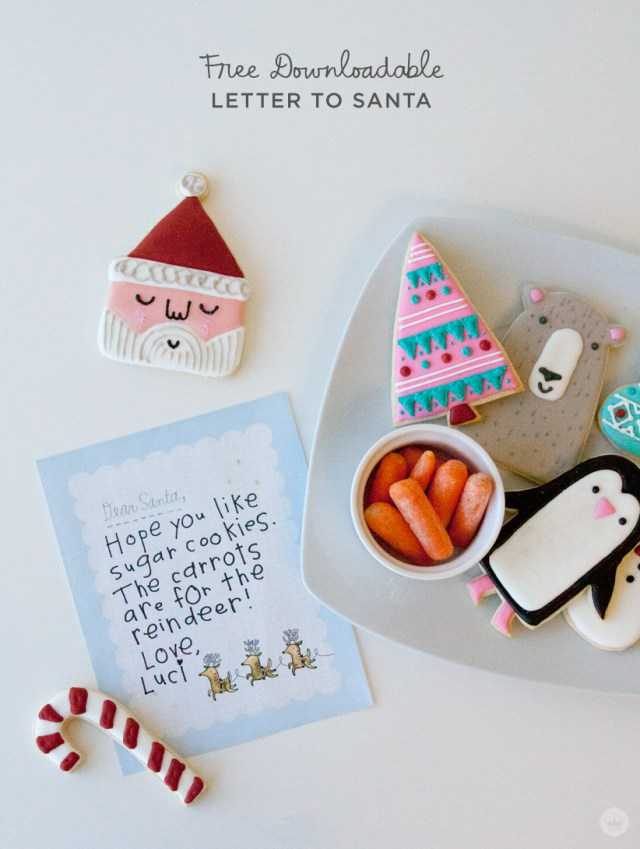 Free downloadable Santa letter template | thinkmakeshareblog.com