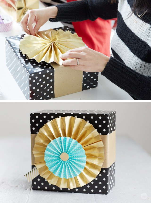 Gift Wrap Workshop | thinkmakeshareblog.com