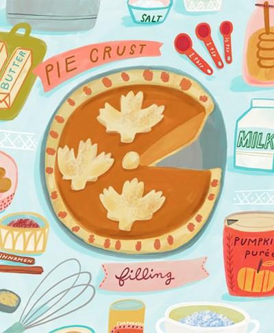 Ginger Pumpkin Pie Illustration