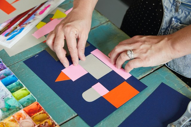 Gouache Workshop: Creating structures with collage paper