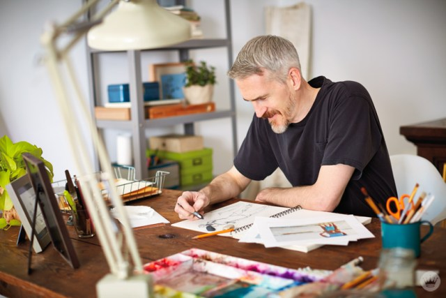 Hallmark Artist Spotlight on Illustrator Ken Sheldon | thinkmakeshareblog.com