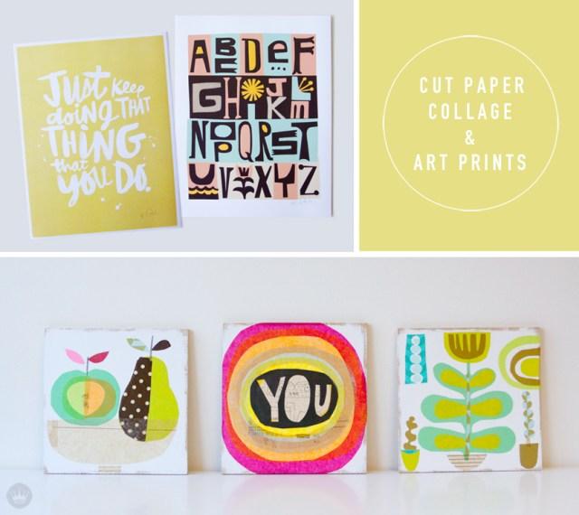 Hallmarket a Hallmark Maker Fair | cut paper collage | thinkmakeshareblog.com