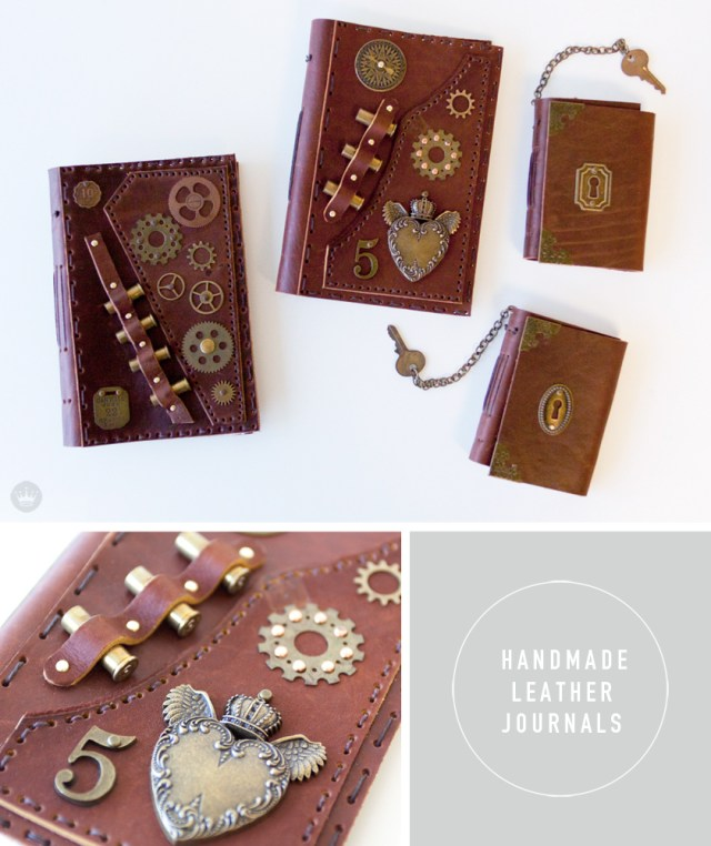 Hallmarket a Hallmark Maker Fair | handmade leather journals | thinkmakeshareblog.com