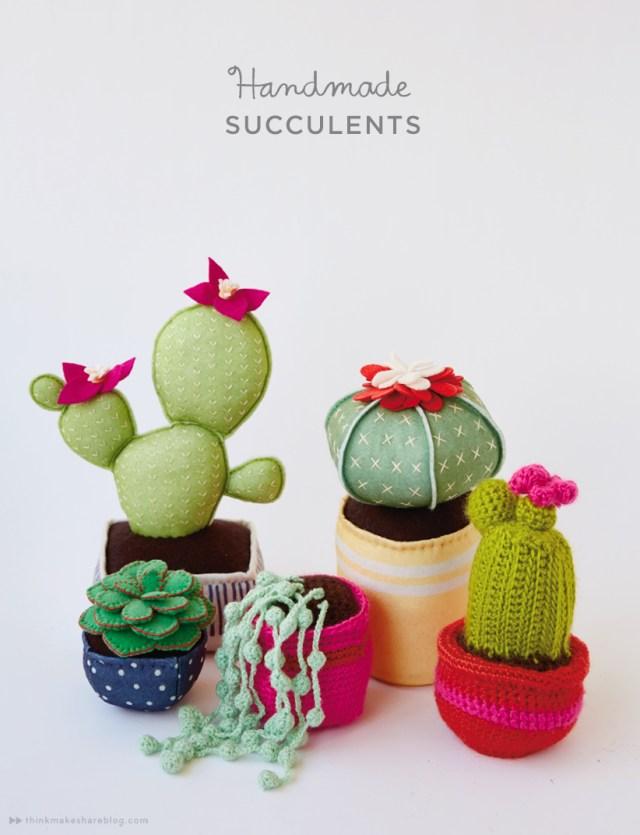 Handmade succulents with Hallmark artists | thinkmakeshareblog.com