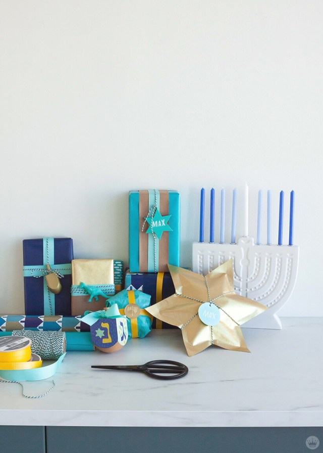 Hanukkah Gift Wrap ideas