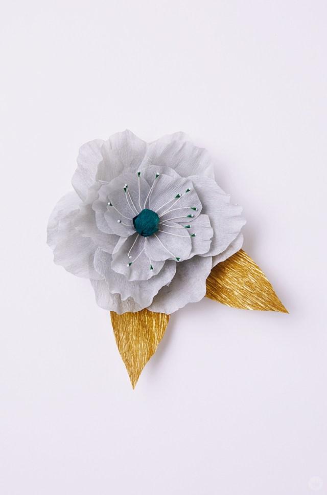 A DIY crepe paper flower