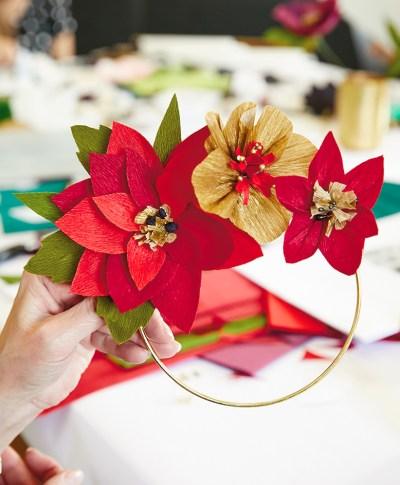 Holiday Paper Flowers | thinkmakeshareblog.com