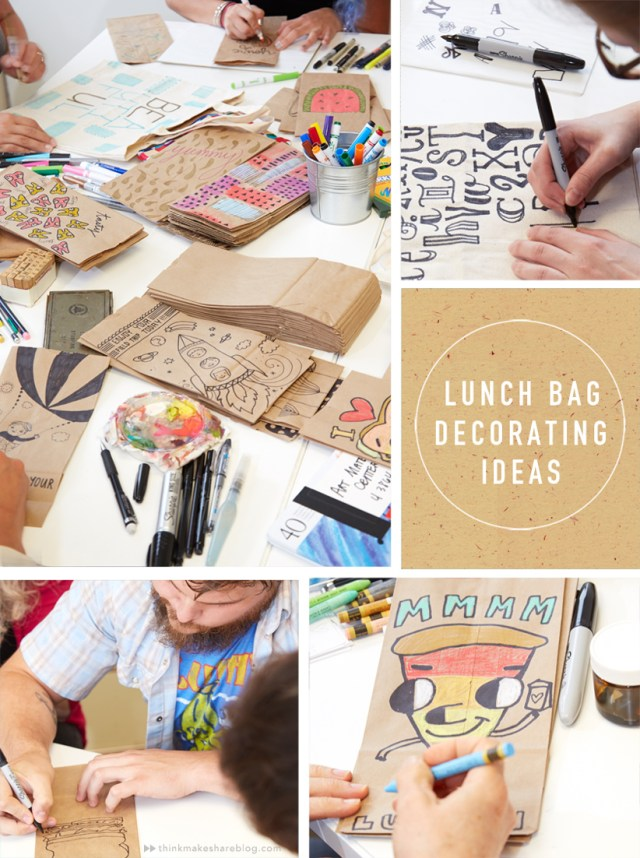 Ideas for decorating your lunch bag from Hallmark artists | thinkmakeshareblog.com