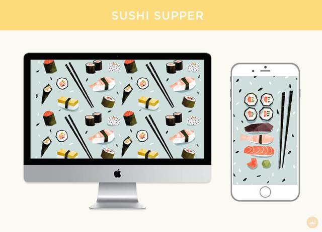 Sushi supper digital wallpapers