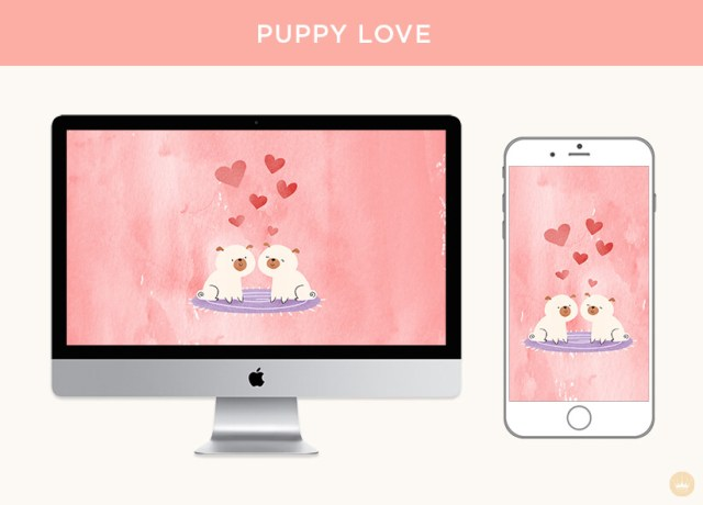 Puppy Love digital wallpapers