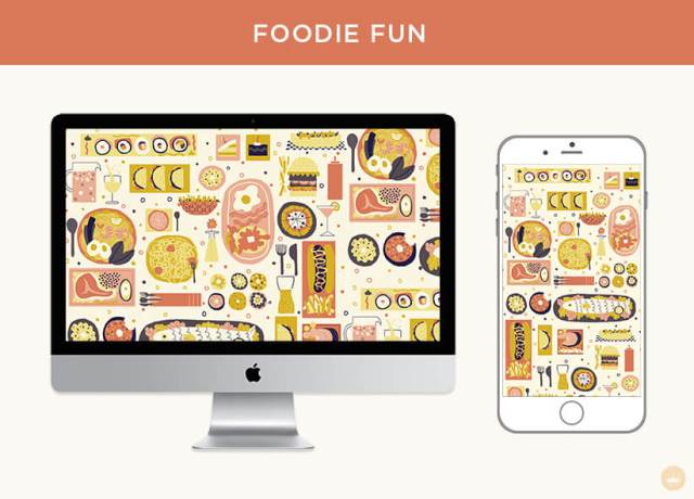 Foodie Fun digital wallpapers