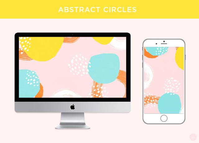 FREE JULY 2018 DIGITAL WALLPAPERS | abstract circles art