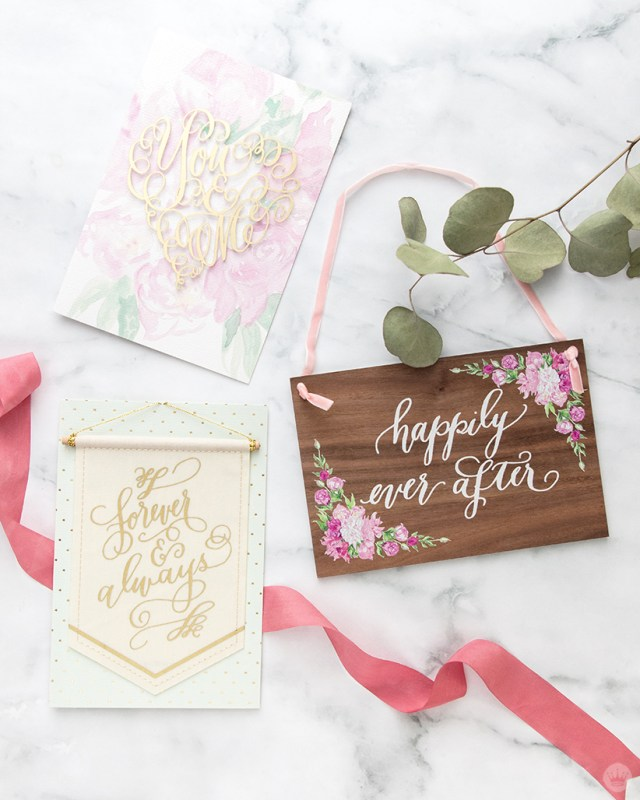 Three cards from the Laura Hooper Calligraphy collaboration with Signature.