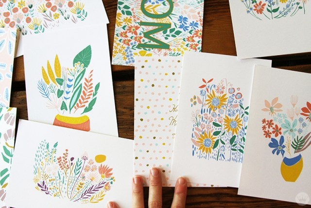 Illustrations from the Leah Duncan Signature Mother's Day collection