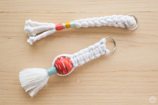 Braided and macramé keychains