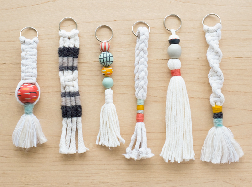Macrame Keychain September Slider | thinkmakeshareblog.com