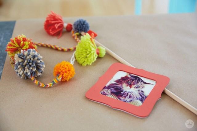 Make your own DIY POM POM CAT WAND   thinkmakeshareblog.com