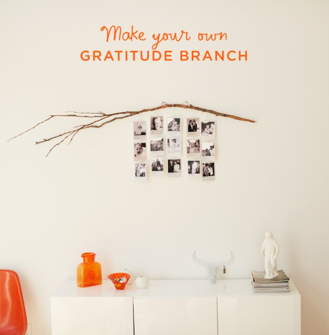 Make your own GRATITUDE BRANCH | thinkmakeshareblog.com