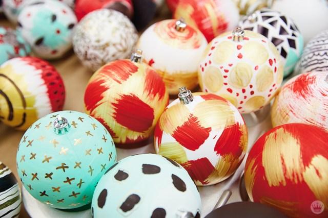 DIY ornament ideas: Hand-painted Christmas ornaments