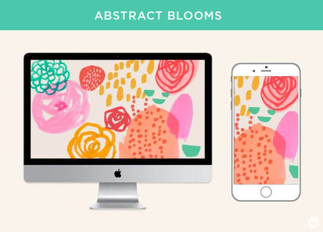 Free March 2019 digital wallpapers: Abstract Blooms