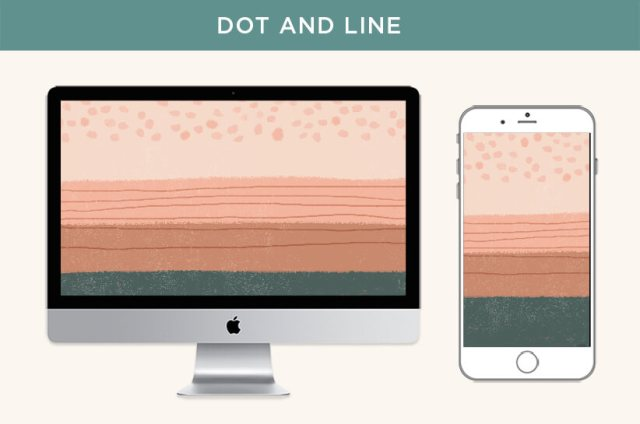 Free May 2020 digital wallpapers: Dot and Line design