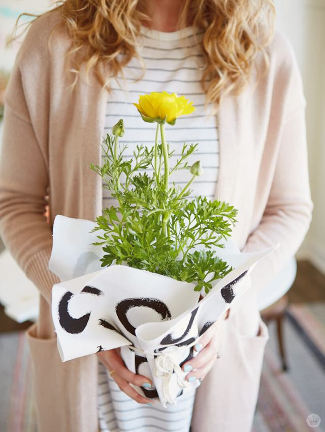 DIY canvas planter wrap