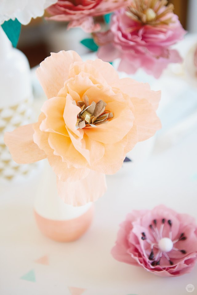 Mother's Day Brunch paper peonies