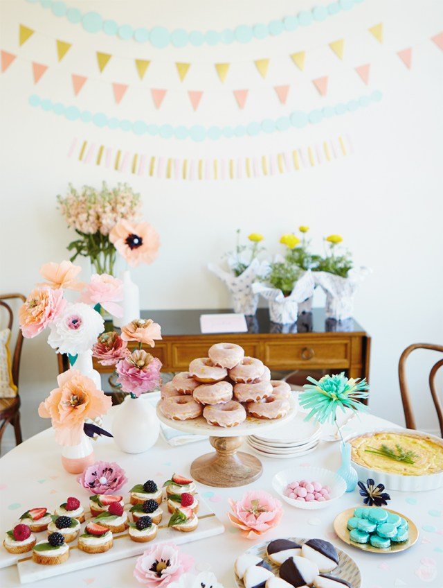 Mother's Day brunch buffet table