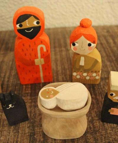 Amber Goodvin's handmade nativity set   thinkmakeshareblog.com