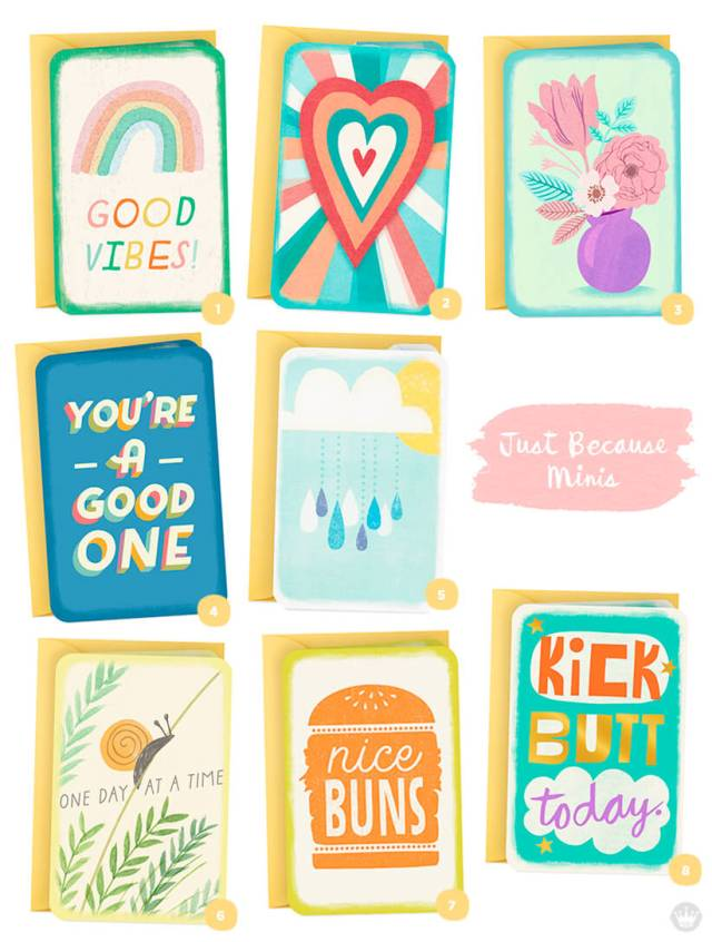 Favorite Just Because Minis designs from Hallmark.com | thinkmakeshareblog.com
