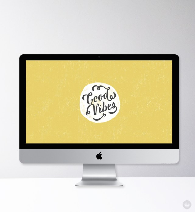 Lettered desktop wallpaper designed by one of our Hallmark summer interns, Nan Sinchai.