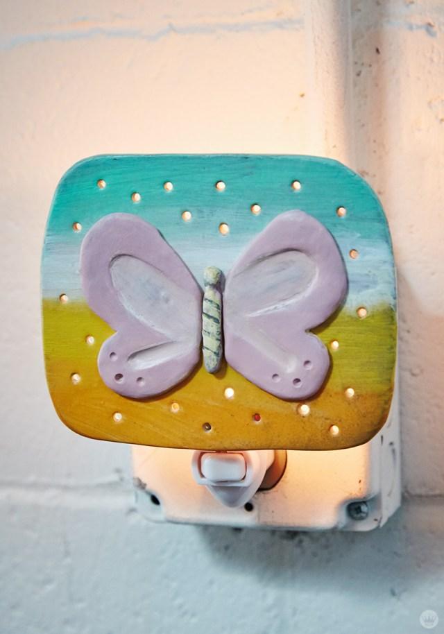 DIY nightlights: butterfly design