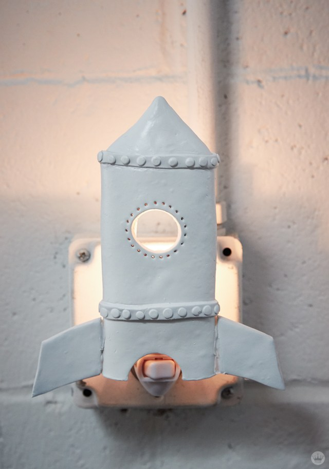 DIY nightlights: Rocket design