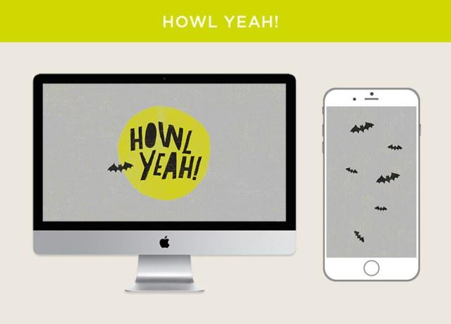 Howl Yeah free October 2018 digital wallpapers