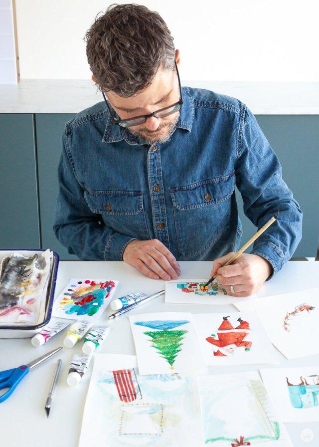 Hallmark Artist Daniel M. creates illustrations for Paper Wonder cards thinkmakeshareblog.com