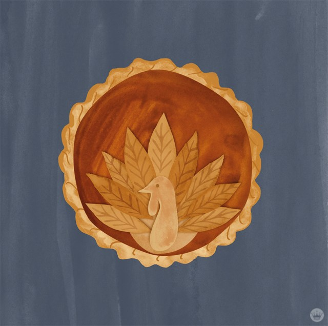 PIE CRUST DESIGNS: LAYERED SHAPES TO FORM A TURKEY