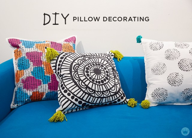 Pillow Decorating   thinkmakeshareblog.com