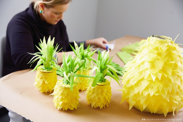 DIY Pineapple Pinatas with Hallmark artists | thinkmakeshareblog.com