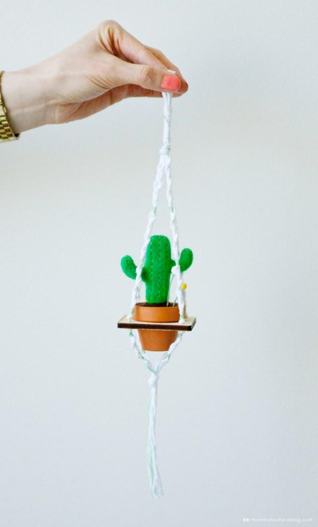Potted cacti macrame by Hallmark designer Hannah Carey   thinkmakeshareblog.com