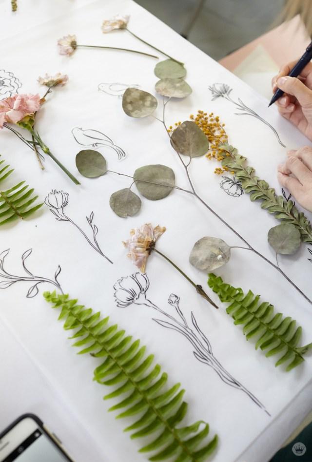 pressed flower ideas from a hallmark workshop