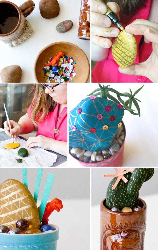 Rock cacti by Hallmark designer Allyson Lassiter | thinkmakeshareblog.com