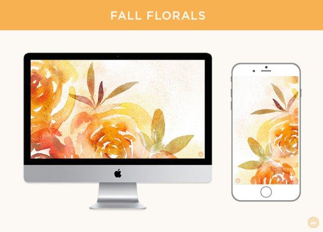 Fall floral digital wallpapers