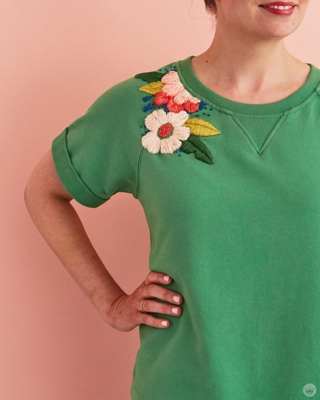 Broderie chemise | thinkmakeshareblog.com