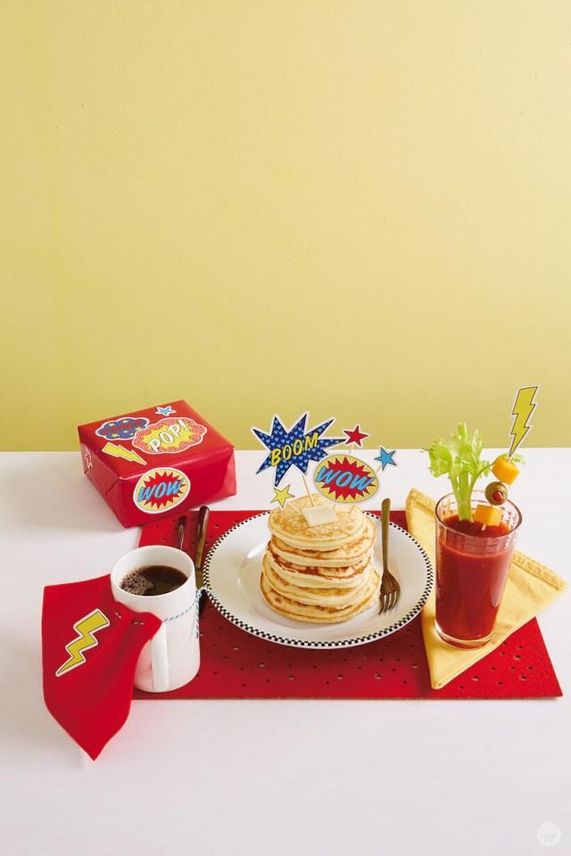 Super Dad Breakfast   thinkmakeshareblog.com