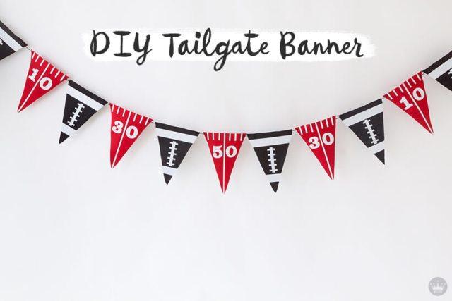 DIY Felt Pennant Banner